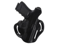 DeSantis Thumb Break Scabbard Belt Holster Right Hand Glock 19, 23, 32 Leather Black