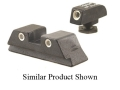 Trijicon Night Sight Set HK USP (Except Tactical, Compact) Steel Matte 3-Dot Tritium Green