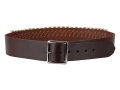 "Hunter Cartridge Belt 2"" 38 Caliber 25 Loops Leather Antique Brown XL"
