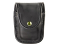 Bianchi 7915 AccuMold Elite Pager or Glove Pouch Brass Snap Trilaminate High-Gloss Black