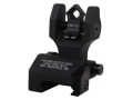 Troy Industries Rear Flip-Up Battle Sight Di-Optic Aperture (DOA) with Tritium AR-15 Aluminum