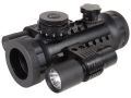 BSA Stealth Tactical Red Dot Sight 1x 30mm 5 MOA Dot with Laser and Light