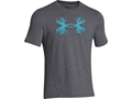 Under Armour Men's Antler Logo T-Shirt Short Sleeve Cotton and Polyester Blend