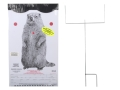 EZ Target Woodchuck Master Pack Target 11&quot; x 17&quot; Paper Package of 15 with Stand and Backer