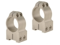 Warne 1&quot; Permanent-Attachable Ring Mounts Tikka Silver High