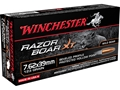 Winchester Razorback XT Ammunition 7.62x39mm Russian 123 Grain Hollow Point Lead-Free Box of 20