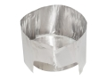 MSR Solid Heat Camp Stove Reflector with Windscreen Aluminum