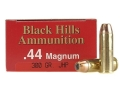 Product detail of Black Hills Ammunition 44 Remington Magnum 300 Grain Jacketed Hollow Point Box of 50