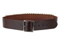 "Hunter Cartridge Belt 2"" 45 Caliber 25 Loops Leather Antique Brown XL"