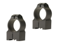 "Warne 1"" Permanent-Attachable Ring Mounts Tikka Matte High"