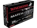 Winchester Match Ammunition 338 Lapua Magnum 250 Grain Sierra MatchKing Hollow Point Boat Tail
