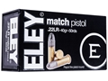 Eley Match OSP Ammunition 22 Long Rifle 40 Grain Lead Round Nose