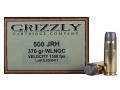 Grizzly Ammunition 500 JRH 370 Grain Wide Flat Nose Gas Check Box of 20