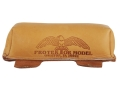 Protektor Sausage Front Shooting Rest Bag Leather Tan Filled