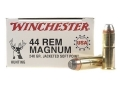 Winchester USA Ammunition 44 Remington Magnum 240 Grain Jacketed Soft Point