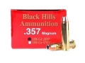 Product detail of Black Hills Ammunition 357 Magnum 158 Grain Jacketed Hollow Point Box of 50