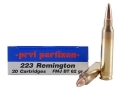 Prvi Partizan Ammunition 223 Remington 62 Grain Full Metal Jacket Boat Tail Box of 20