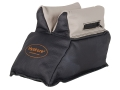 HySkore Rabbit Ear Front Shooting Rest Bag Leather Black and Gray Filled