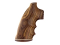 Hogue Fancy Hardwood Grips with Accent Stripe, Finger Grooves and Contrasting Butt Cap Colt Python