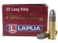 Lapua Pistol King Ammunition 22 Long Rifle 40 Grain Lead Round Nose Box of 500 (10 Boxes of 50)