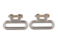 The Outdoor Connection Titan Q-R Detachable Sling Swivels 1-1/4&quot; Stainless Steel Gray (1 Pair)
