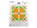 Champion Score Keeper 100 Yard Sight-In Rifle Target 14&quot; x 18&quot; Paper Fluorescent Orange/Green Bull Package of 100