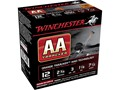 "Winchester AA Light TrAAcker Ammunition 12 Gauge 2-3/4"" 1-1/8 oz #8 Shot Black Wad"