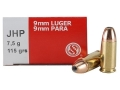 Sellier & Bellot Ammunition 9mm Luger 115 Grain Jacketed Hollow Point Box of 50