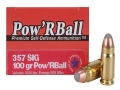 Glaser Pow'RBall Ammunition 357 Sig 100 Grain Box of 20