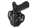 Bianchi 77 Piranha Belt Holster Left Hand 1911 Government Leather Black