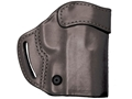 BLACKHAWK! Compact Askins Belt Holster Right Hand S&W J Frame, Ruger SP101, Taurus M85 Leather Black