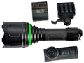 AimShot TZ980 Wireless Remote Flashlight Adjustable Focus Green LED with 2 CR123A Batteries Aluminum Black