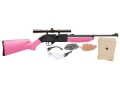Crosman Pumpmaster Air Rifle .177 Caliber Kit Polymer Stock Pink Blue Barrel