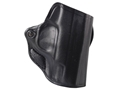 DeSantis Mini Scabbard Outside the Waistband Holster Glock 42 Leather Black