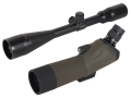 Barska Blackhawk Spotting Scope 18-36x 50mm Angled Body with Tripod and Soft Case Rubber Armored Green with Varmint Rifle Scope 6-24x 42mm Adjustable Objective Mil-Dot Reticle Matte