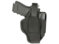"BLACKHAWK! Sportster Belt Holster with Magazine Pouch Ambidextrous Large Auto 4-1/2"" to 5"" Barrel Nylon Black"