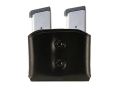 Galco DMC Double Magazine Pouch 40 S&W, 9mm Double Stack Magazines Leather Black