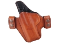 Bianchi Allusion Series 125 Consent Outside the Waistband Holster Left Hand Smith & Wesson M&P 9mm or 40 S&W Leather Tan