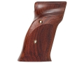 Hogue Fancy Hardwood Grips S&amp;W 41 with Left Hand Thumb Rest Checkered Cocobolo
