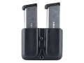 Blade-Tech Double Magazine Pouch Right Hand Single Stack Magazines SR Loop Kydex Black