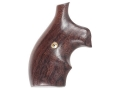 Hogue Bantam Grips with Top Finger Groove S&W J-Frame Round Butt Rosewood