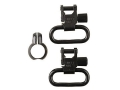 Uncle Mike&#39;s Quick Detachable Full Band Rimfire Sling Swivels 1&quot; Black