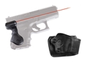 Crimson Trace Lasergrips Glock Gen-3 26, 27, 28, 33, 39 Rear Activation Polymer Black with Gould & Goodrich Holster