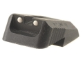 Kensight Defensive Rear Sight 1911 Novak LoMount Cut Steel Black Recessed Blade with White Dots