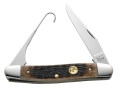 Case 7143 Ducks Unlimited Bird Hunter Folding Pocket Knife 2.92&quot; Clip Point Stainless Steel Blade with Bird Hook Genuine Bone Handle Brown