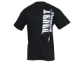 Drury Outdoors Men's Arrow Logo T-Shirt Short Sleeve Cotton Black Medium