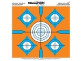 Champion Re-Stick 5 Bull Blue and Orange Self-Adhesive Target 14.5&quot; x 14.5&quot; Paper Pack of 25