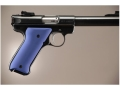 Hogue Extreme Series Grip Ruger Mark II, Mark III Aluminum Matte Blue