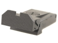 Kensight Adjustable Rear Sight Glock 17, 22, 24, 31, 34, 35 Steel Black Beveled Blade Fully Serrated
