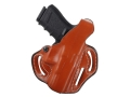 DeSantis Thumb Break Scabbard Belt Holster Right Hand Glock 19, 23, 32 Leather Tan